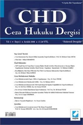 CHD Ceza Hukuku Dergisi Yıl: 3 Sayı: 6