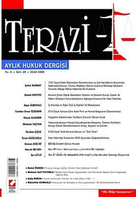Terazi Aylık Hukuk Dergisi Sayı: 29