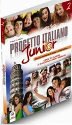 Progetto Italiano Junior 2 (Ders Kitabı ve Çalışma Kitabı +CD) İtalyanca Orta-Alt Seviye