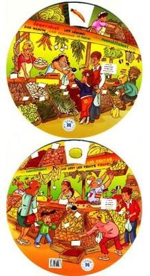 Kelime Çarkı - Meyveler ve Sebzeler (İngilizce, İspanyolca, Almanca, Fransızca, İtalyanca)