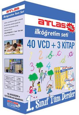 Atlas İlköğretim 1. Sınıf Tüm Dersler - 40 VCD + 3 Kitap