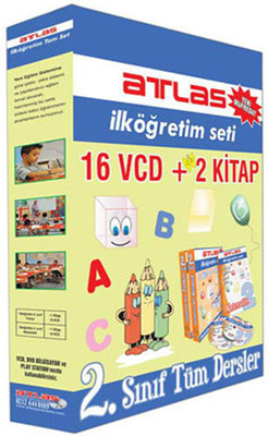 Atlas İlköğretim 2. Sınıf Tüm Dersler (16 VCD + 2 Kitap)