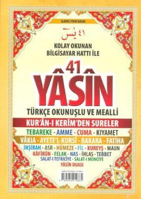 41 Yasin Türkçe Okunuşlu ve Mealli (Çanta Boy)