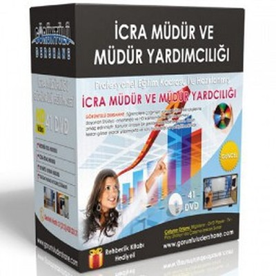 İcra Müdür ve Müdür Yardımcılığı Sınavı Görüntülü Eğitim Seti 41 Dvd