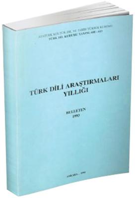 Belleten 1993-Türk Dili Araştırmala
