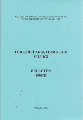 Türk Dili Araştırmaları Yıllığı-Bel