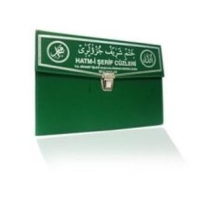 Kur'an-ı Kerim 30 Cüz Hatim Seti (Çanta Boy, Çantalı, Yeşil Kapak, Kod: 130)