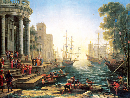 Anatolian Liman/Seaport with the Embarkation of St. Ursula 4902