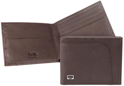 Nava Ct409Db City Wallet Slim Dark Brown