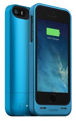 """Mophie MP.2542.JPH.IP5.BLU.I iPhone5 Sarjli Kilif """"Helium"""" 1500 mAh,Mavi"""