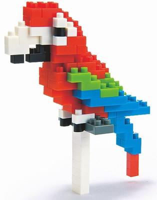 Nanoblock Red-And-Green Macaw Nbc_034