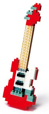 Nanoblock Electric Guitar Red Nbc_037