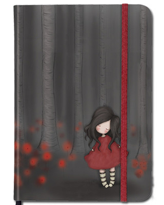 Santoro Gorjuss Hardcover Notebook - Poppy Wood  - Ec06 230
