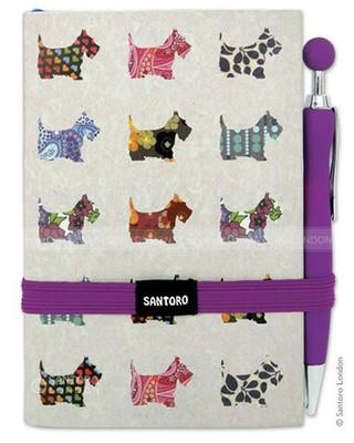 Santoro Gorjuss Soft-Touch Premium Journal - Scottie Dogs  - Ec10A 196
