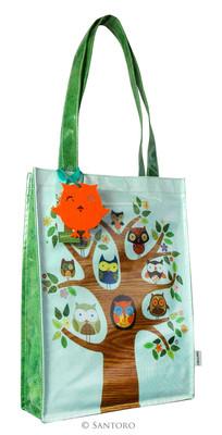 Santoro Gorjuss Eclectic Coated Shopper Bag - Feathered Friends  - Ec01 290