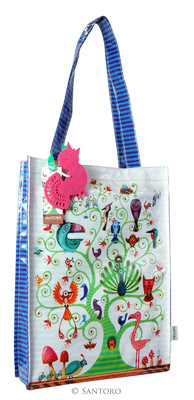 Santoro Gorjuss Eclectic Coated Shopper Bag - Tree Of Life  - Ec04 290
