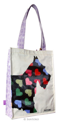 Santoro Gorjuss Eclectic Coated Shopper Bag - Scottie Dogs  - Ec05 290