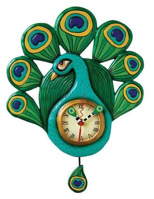 Allen Designs Pretty Peacock Clock P1212
