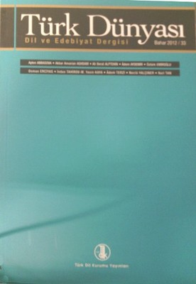 Türk Dünyası Dil ve Edebiyat Dergisi Sayı: 33
