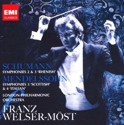Schumann: Sym. 2 & 3 / Mendelssohn: Sym. 3 & 4