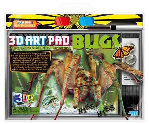4M 3D Art Pad Bugs / 3D Poster-Boyama /Böcekler 3701