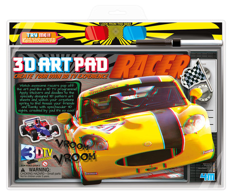 4M 3D Art Pad Racer / 3D Poster-Boyama / Yarış Arabası 3702