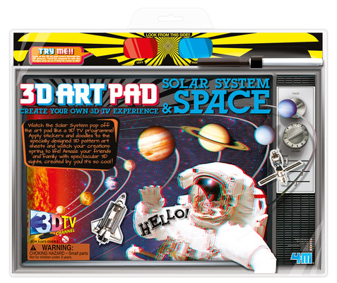 4M 3D Art Pad Solar System And Space / 3D Poster Boyama /Uzay 3703