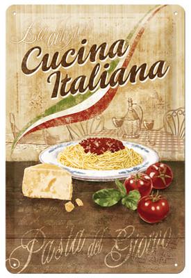 Nostalgic Art Cucina Italiana Metal Kabartmali Duvar Panosu (20x30 cm) 22199