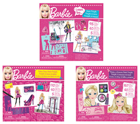Fashion Angels Barbie Tasarim Portfolyo 3 Ast.(Moda Tasarimi,Güzellik ve Aksesuar) Lty22286