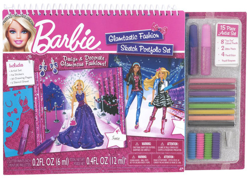 Fashion Angels Barbie Glamtastic Moda Tasarim Portfolyo Ve Sanat Seti Lty22314