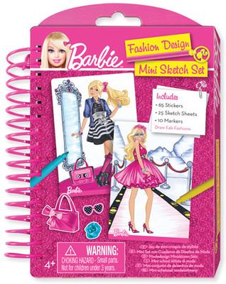 Fashion Angels Barbie Moda Tasarim Defteri - Mini + 10 Adet Boya Kalemi Lty22305