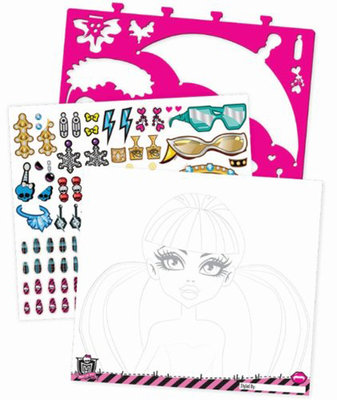 Fashion Angels Monster High Tasarim Portfolyo - Makyaj Tasarimi Lty64025