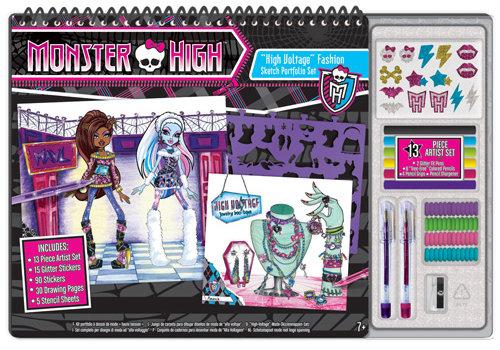 Fashion Angels Monster High - High Voltage Artistik Moda Tasarim Portfolyo Ve Sanat Seti Lty64029