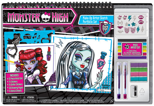 Fashion Angels Monster High Artistik Makyaj Tasarim Portfolyo Ve Sanat Seti Lty64030