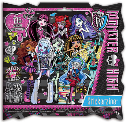 Fashion Angels Monster High Stickerzine Çikartmali Moda Albüm Lty64051