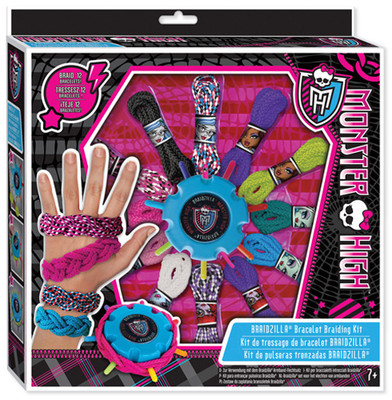 Fashion Angels Monster High Braidzilla Acayip Havali Bileklikler Örgü Seti Lty64055