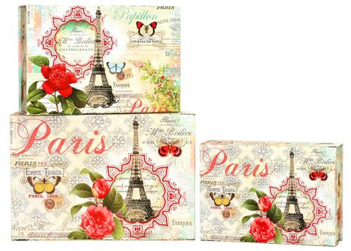 Tri-Coastal Design Sumertime in Paris - 3'lü Dekoratif Tab Box 2207-7198