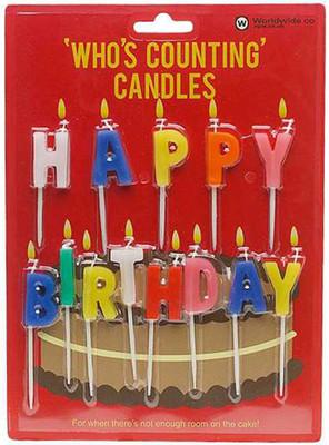 NPW Happy Birthday - Who's Counting Candles / Mutlu Yıllar Pasta Mumu W5073