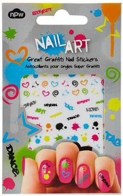 NPW Nail Art Sticker Great Graffiti / Sticker Graffiti Tirnak Süsü NP9309