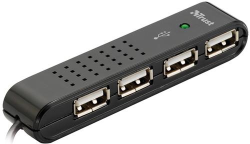 Trust Vecco 4 Port USB 2.0 Mini Hub Black