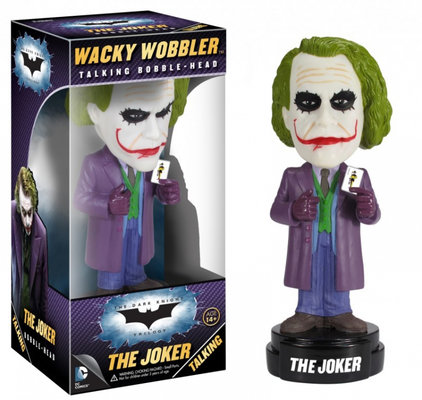 Funko Dark Knight Movie The Joker Talking Wacky Wobbler