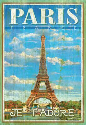 Clementoni 500 Parça Ahşap Efektli Puzzle - Paris 37036.8