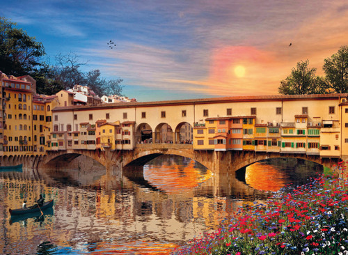 Clementoni 1000 Parça Puzzle Romantik İtalya - Firenze 39220.9