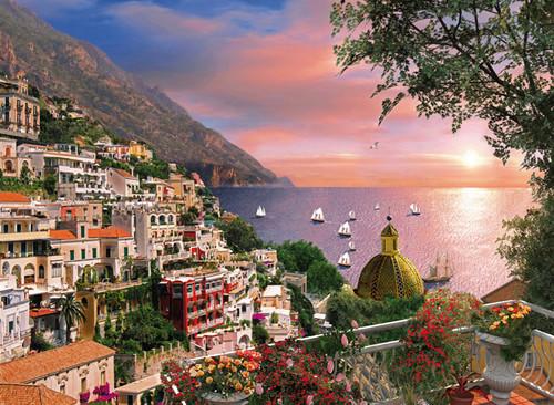 Clementoni 1000 Parça Puzzle Romantik İtalya - Positano 39221.6