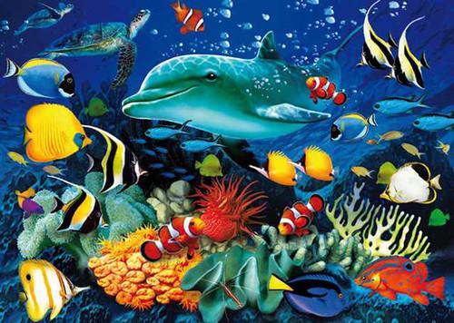 Clementoni 1000 Parça 3 Boyutlu Sihirli Puzzle - Dolphin Reef 39186.8