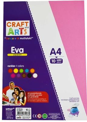 Craft And Arts Eva A4 Yapışkanlı 10lu