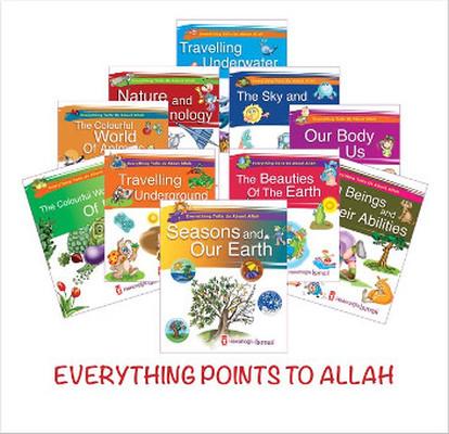Her Şey Allah'ı Anlatıyor İngilizce - 10 Kitap Set