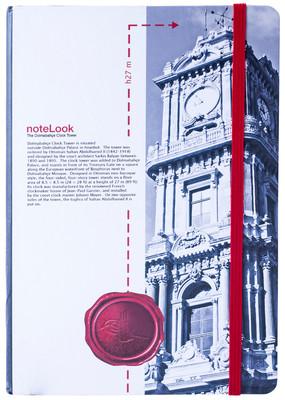 Notelook Towers Of Istanbul Dolmabahce Saat Kulesi A5 Çizgili