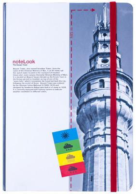 Notelook Towers Of Istanbul Beyazit Kulesi A5 Çizgisiz