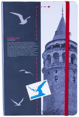 Notelook Towers Of Istanbul Galata Kulesi A6 Çizgisiz